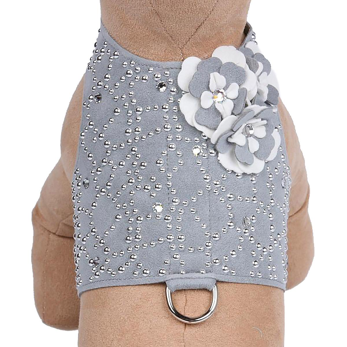 Special Occasion Bailey Dog Harness by Susan Lanci - Platinum Charlotte's Web