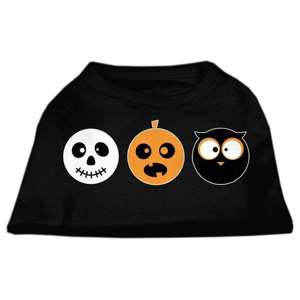 The Spook Trio Halloween Dog T-Shirt - Black