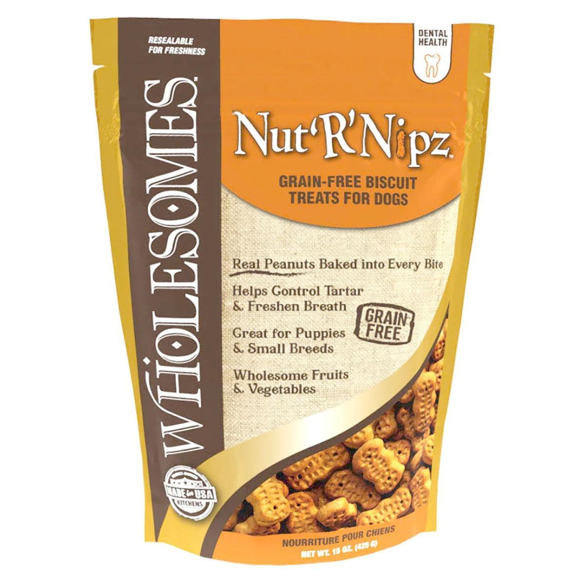 Sportmix Wholesomes Grain-Free Biscuit Dog Treat - Nut'R'Nipz