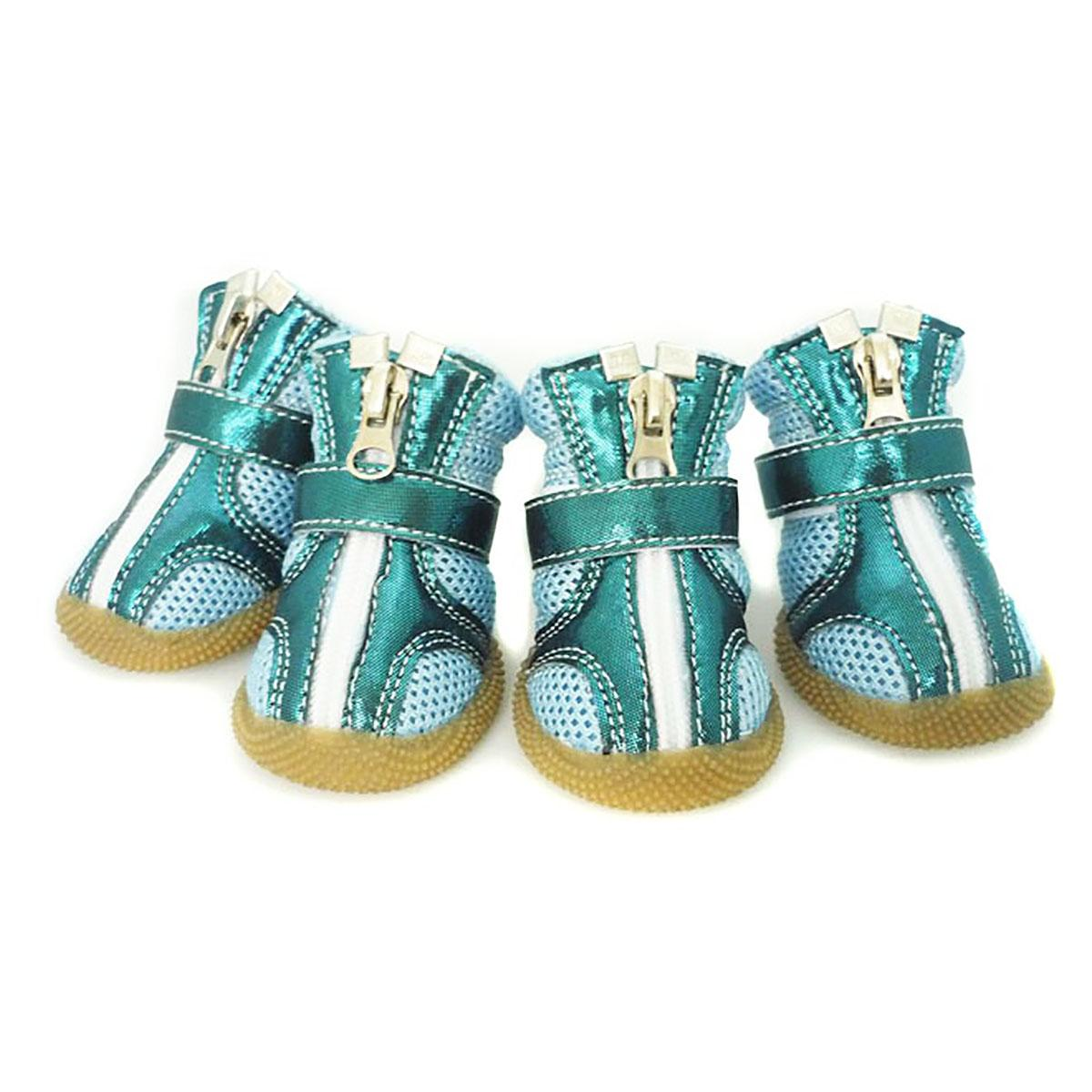 Sporty Dog Boots - Teal Metallic