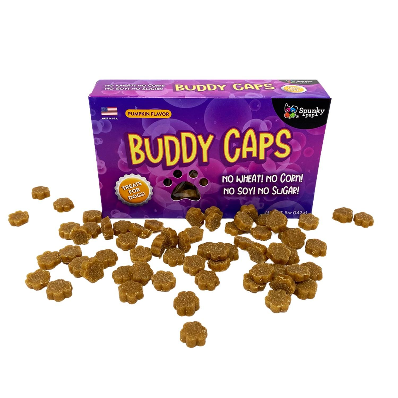 Spunky Pup Dog Treats - Buddy Caps Pumpkin Flavor