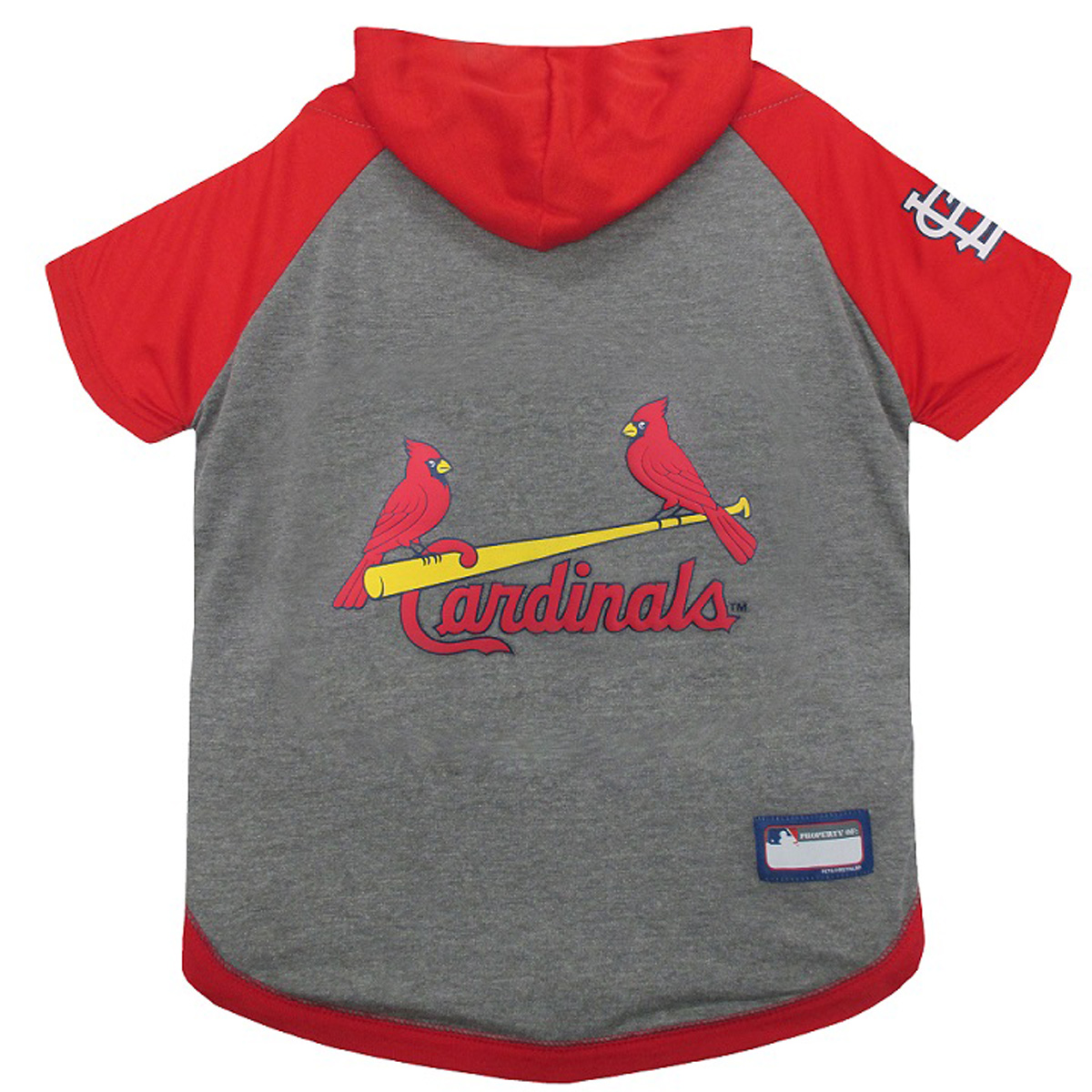 St louis cardinals hooded dog t shirt with same day for St louis t shirt printing