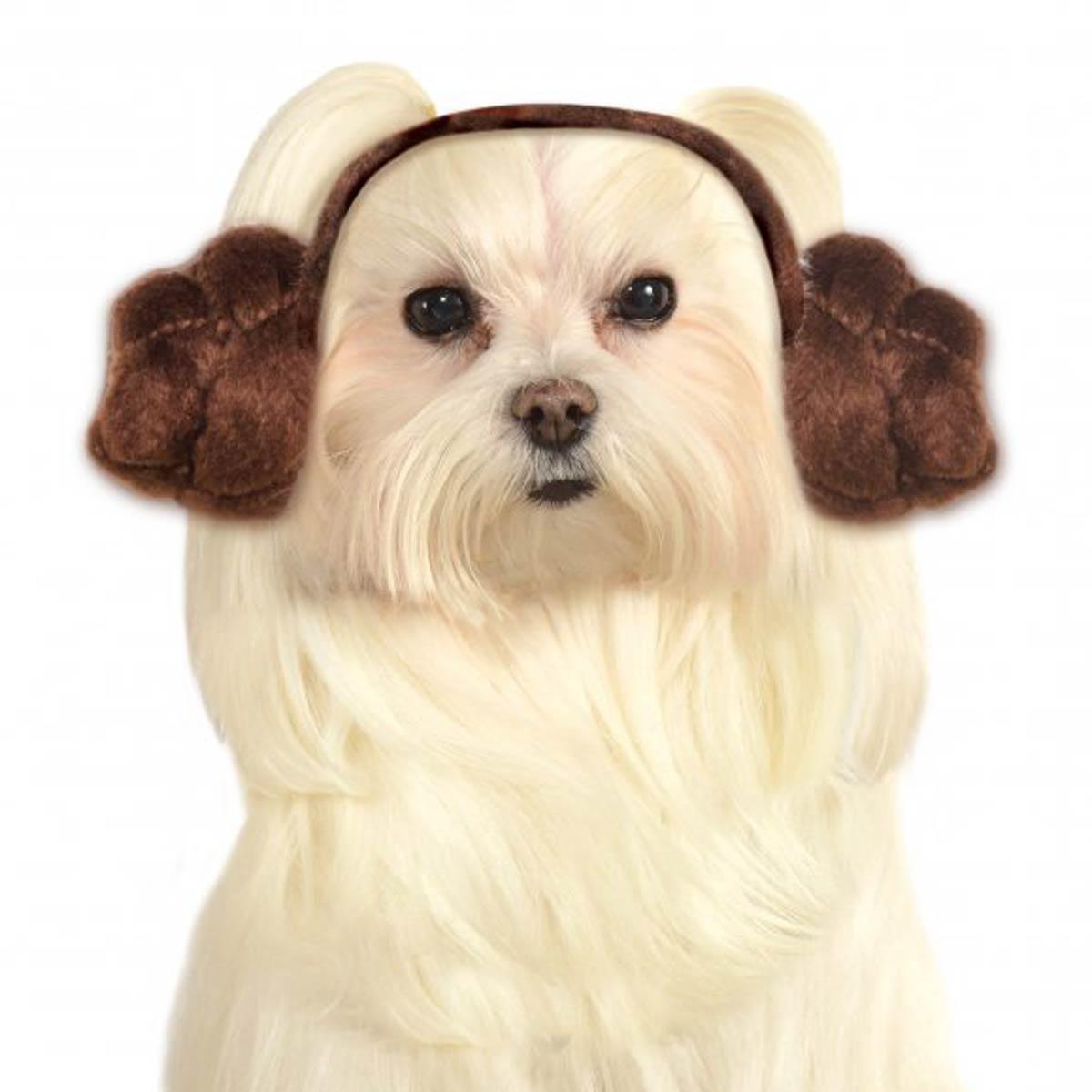 Star Wars Princess Leia Headband Dog Costume