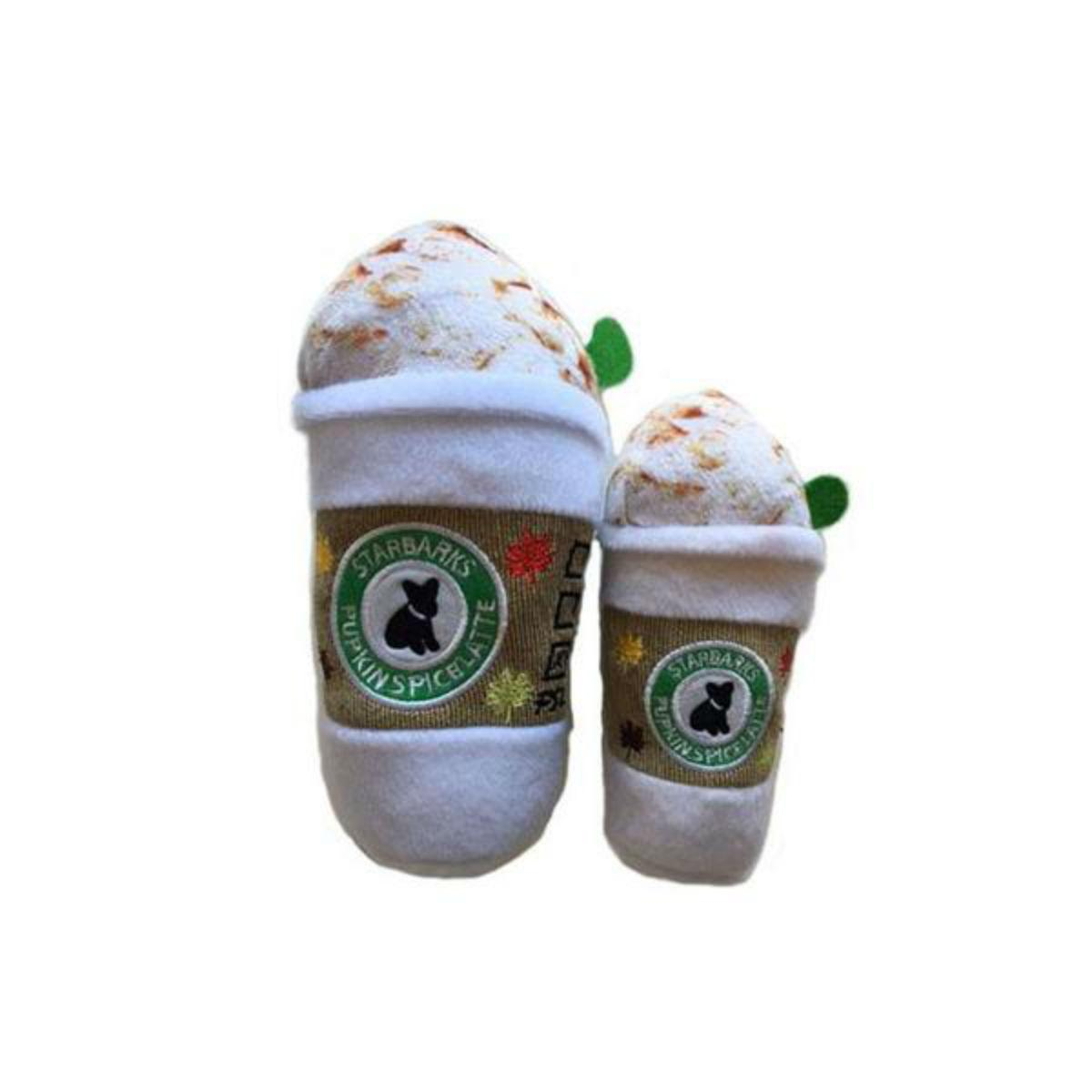 Starbarks Pupkin Spice Latte Plush Dog Toy