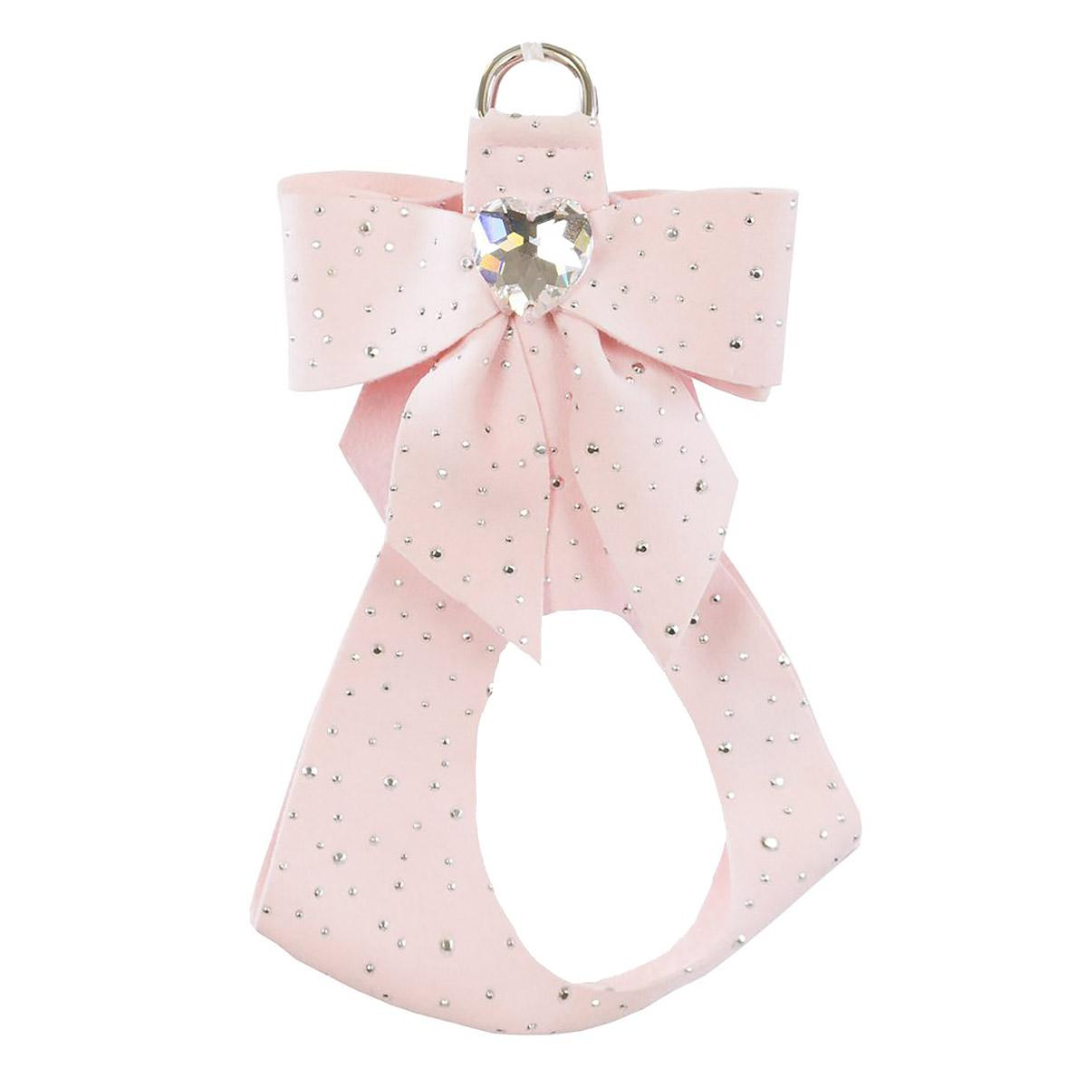 Stardust Tail Bow Heart Step-In Dog Harness by Susan Lanci - Puppy Pink