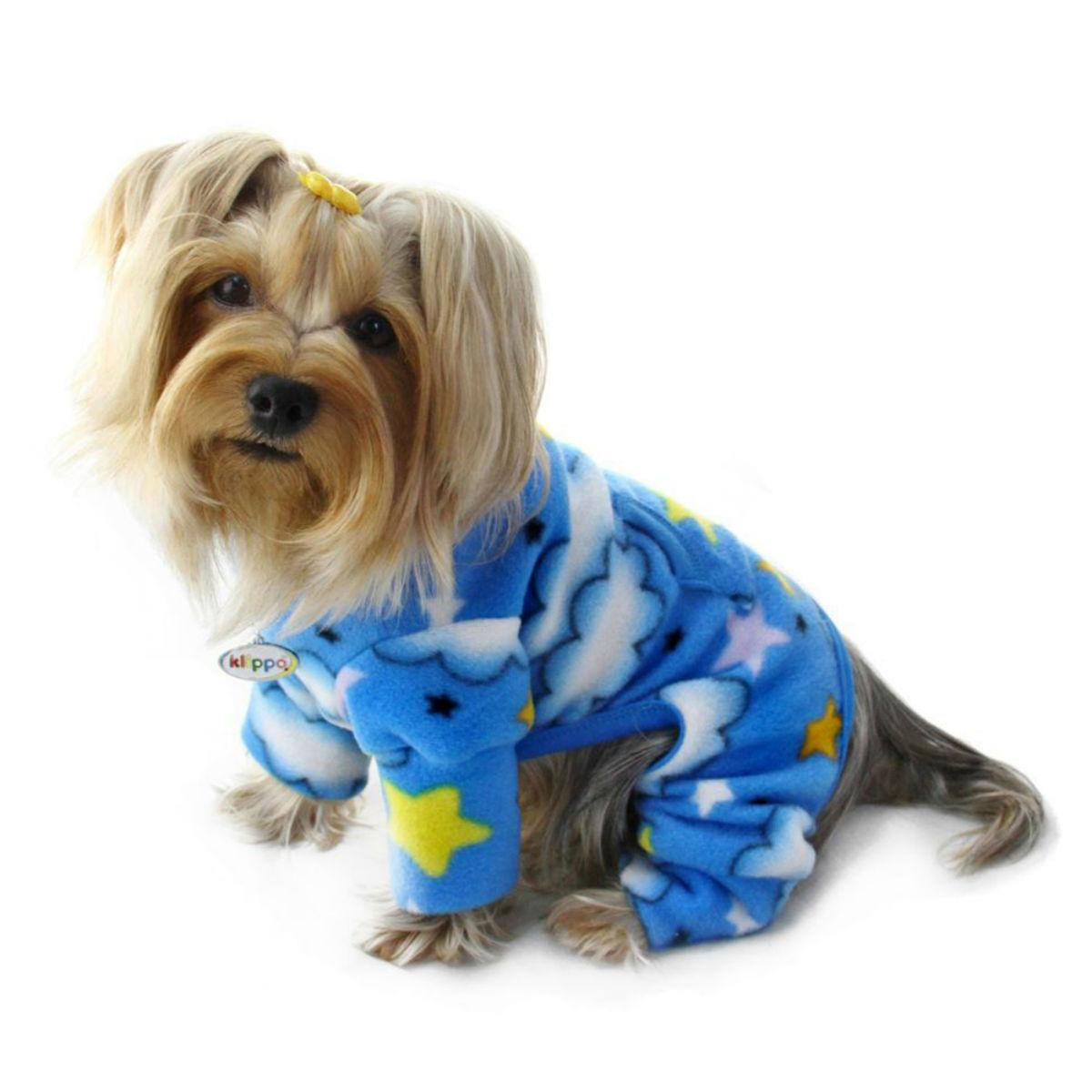 Stars and Clouds Turtleneck Fleece Dog Pajamas by Klippo