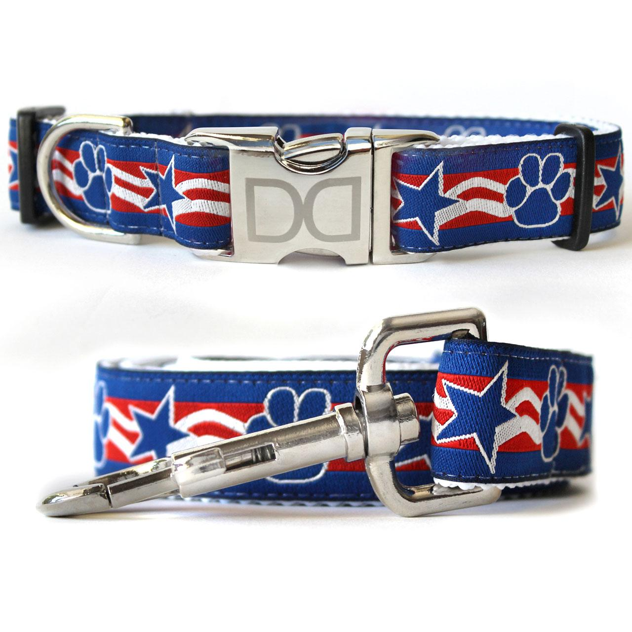 Stars & Paws Dog Collar and Leash Set by Diva Dog
