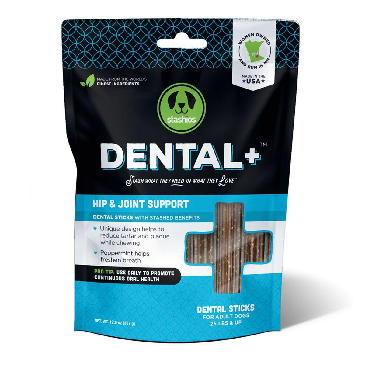 Stashios Dental+ Sticks with Hip & Joint Support Dog Treats