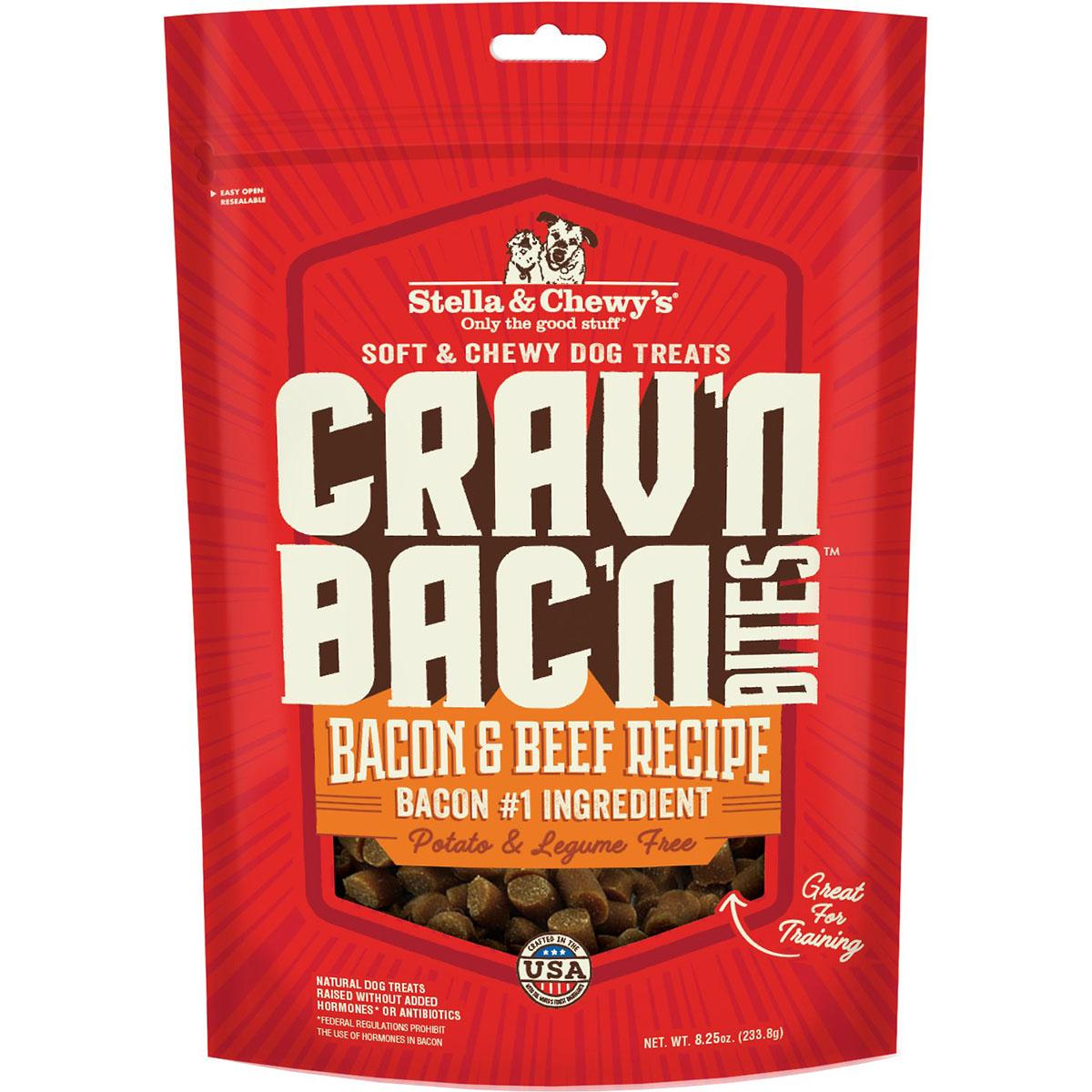 Stella & Chewy's Crav'n Bac'n Bites Bacon & Beef Recipe Dog Treats