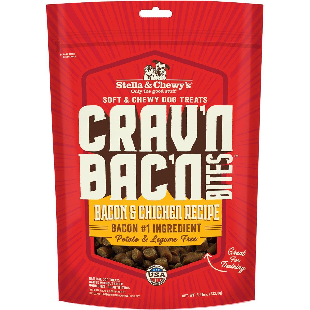 Stella & Chewy's Crav'n Bac'n Bites Bacon & Chicken Recipe Dog Treats