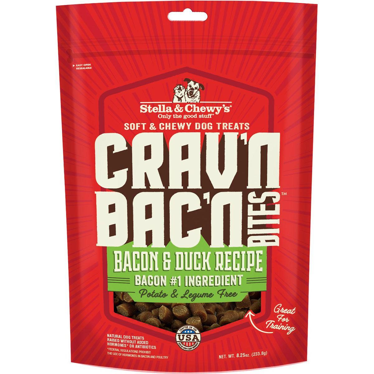 Stella & Chewy's Crav'n Bac'n Bites Bacon & Duck Recipe Dog Treats