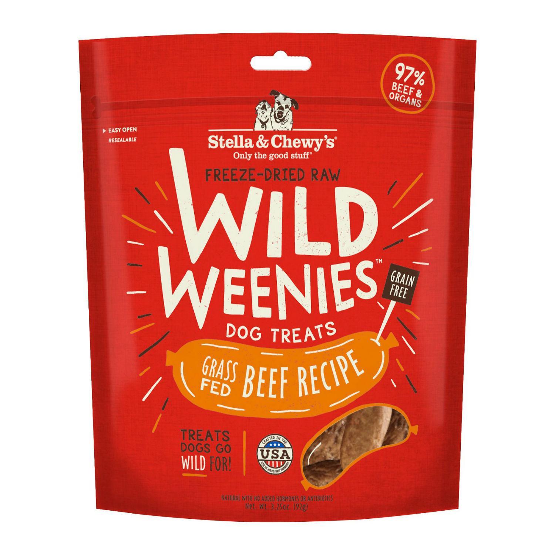 Stella & Chewy's Wild Weenies Freeze-Dried Raw Dog Treats - Beef