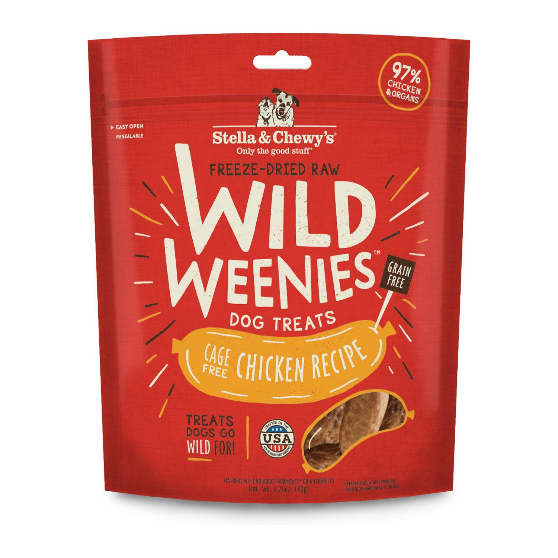 Stella & Chewy's Wild Weenies Freeze-Dried Raw Dog Treats - Chicken