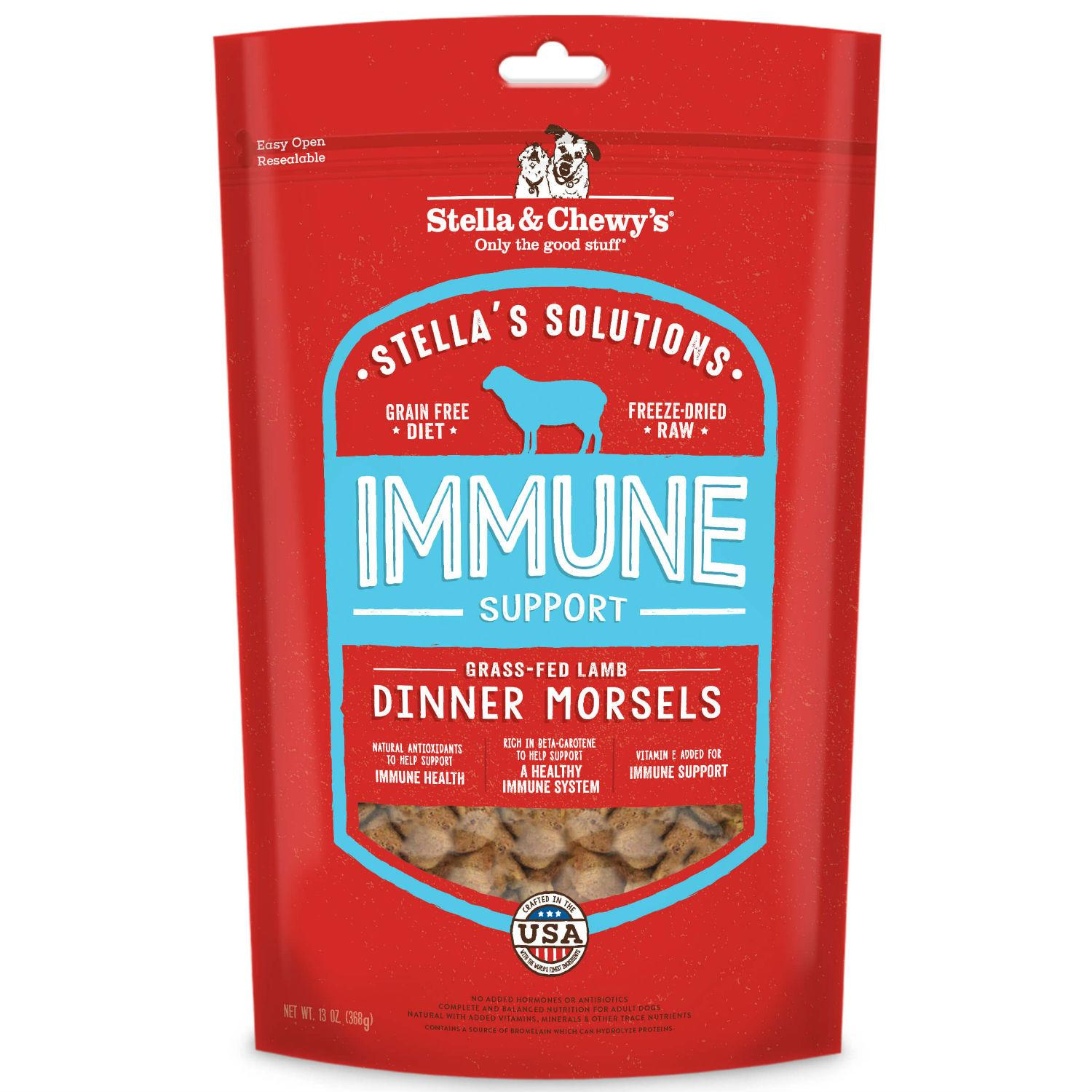 Stella & Chewy's Solutions Immune Boost Dinner Morsels Dog Food - Lamb