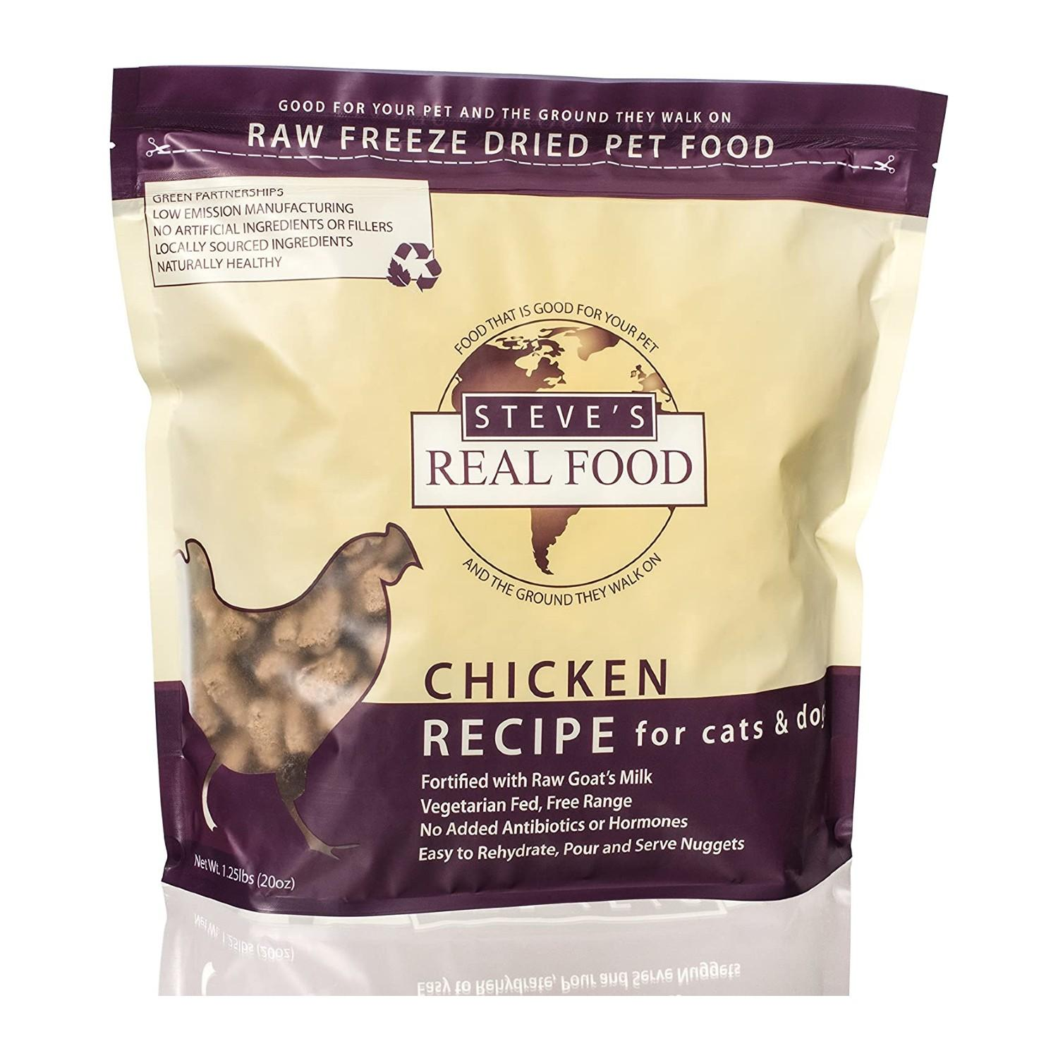 Steve's Real Food Freeze-Dried Raw Nuggets Pet Treats - Chicken