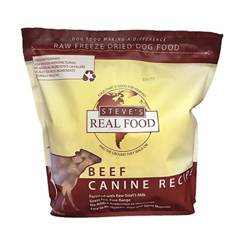 Steve's Real Food Freeze-Dried Raw Nuggets Pet Treats - Beef