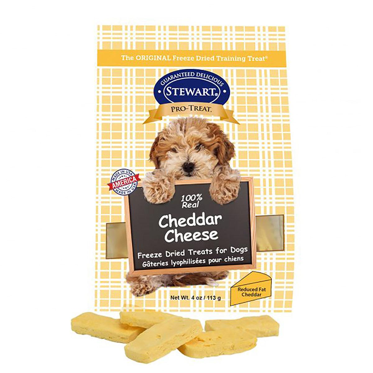 Stewart Pro-Treat Cheddar Cheese Dog Treat Pouch - 4 ounces
