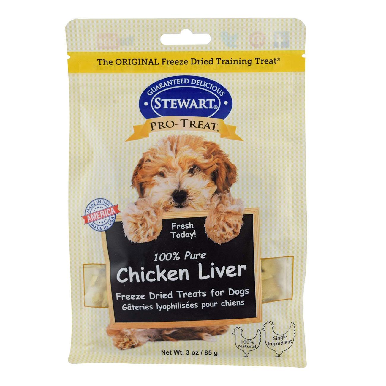 Stewart Pro-Treat Chicken Liver Dog Treat Pouch