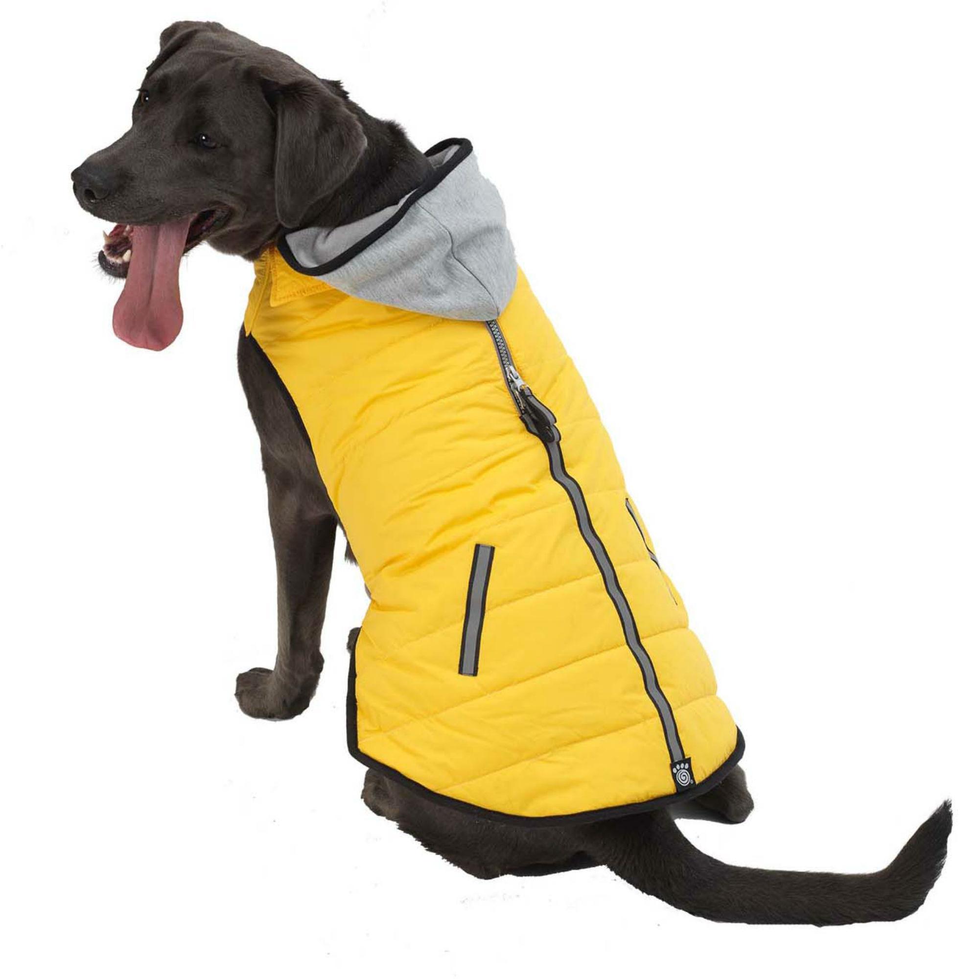 Stowe Puffer Dog Coat - Yellow