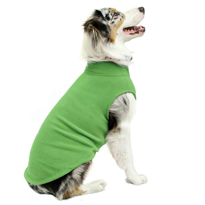 Stretch Fleece Dog Vest by Gooby - Grass Green
