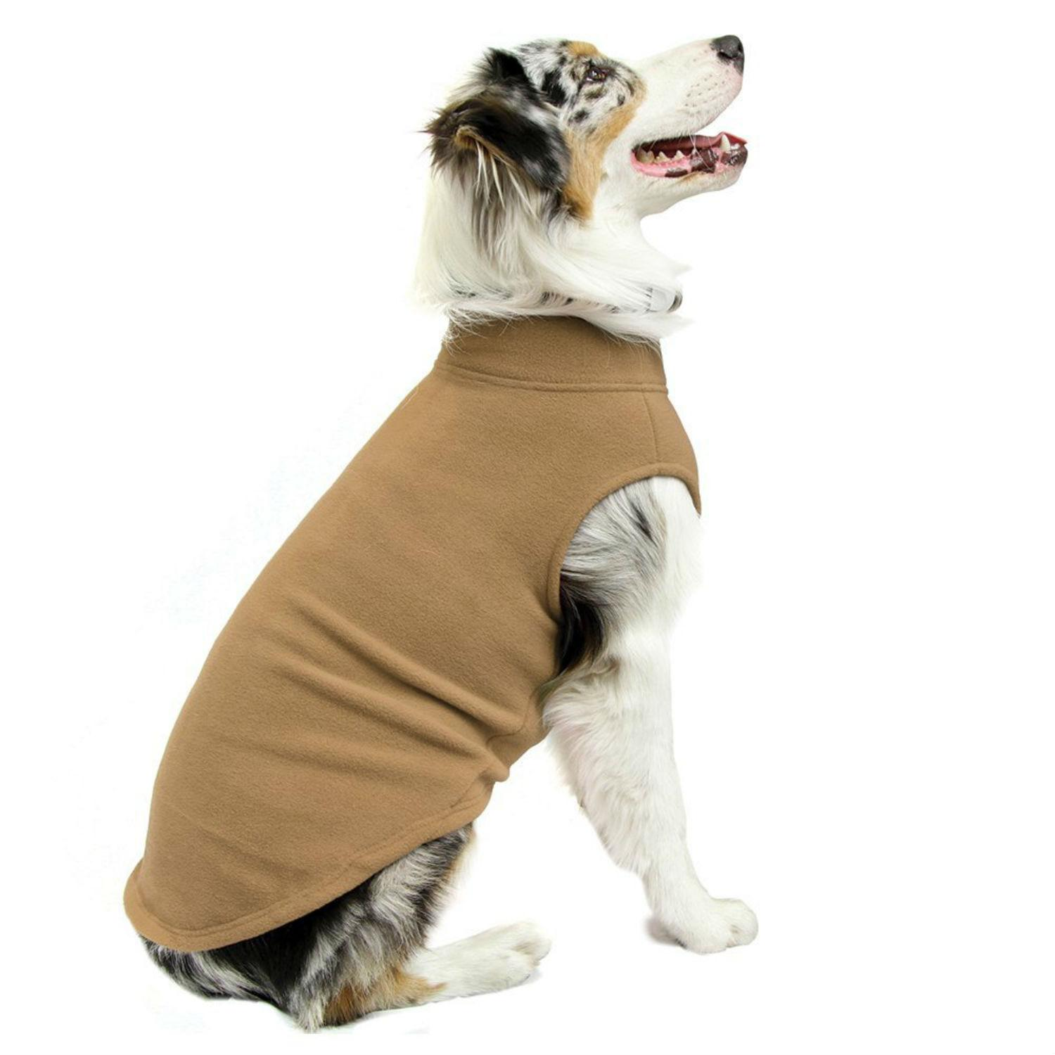 Stretch Fleece Dog Vest by Gooby - Sand