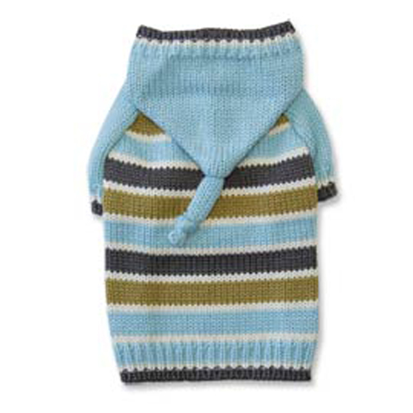 Stripe Hoodie Sweater by Dogo - Blue