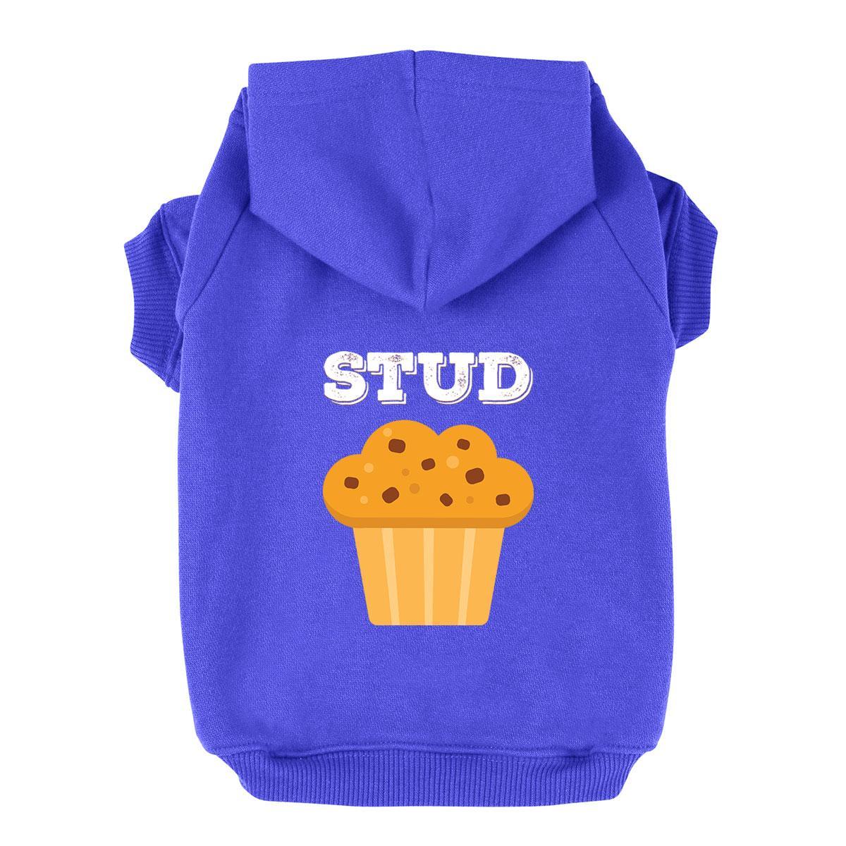 Stud Muffin Dog Hoodie - Blue