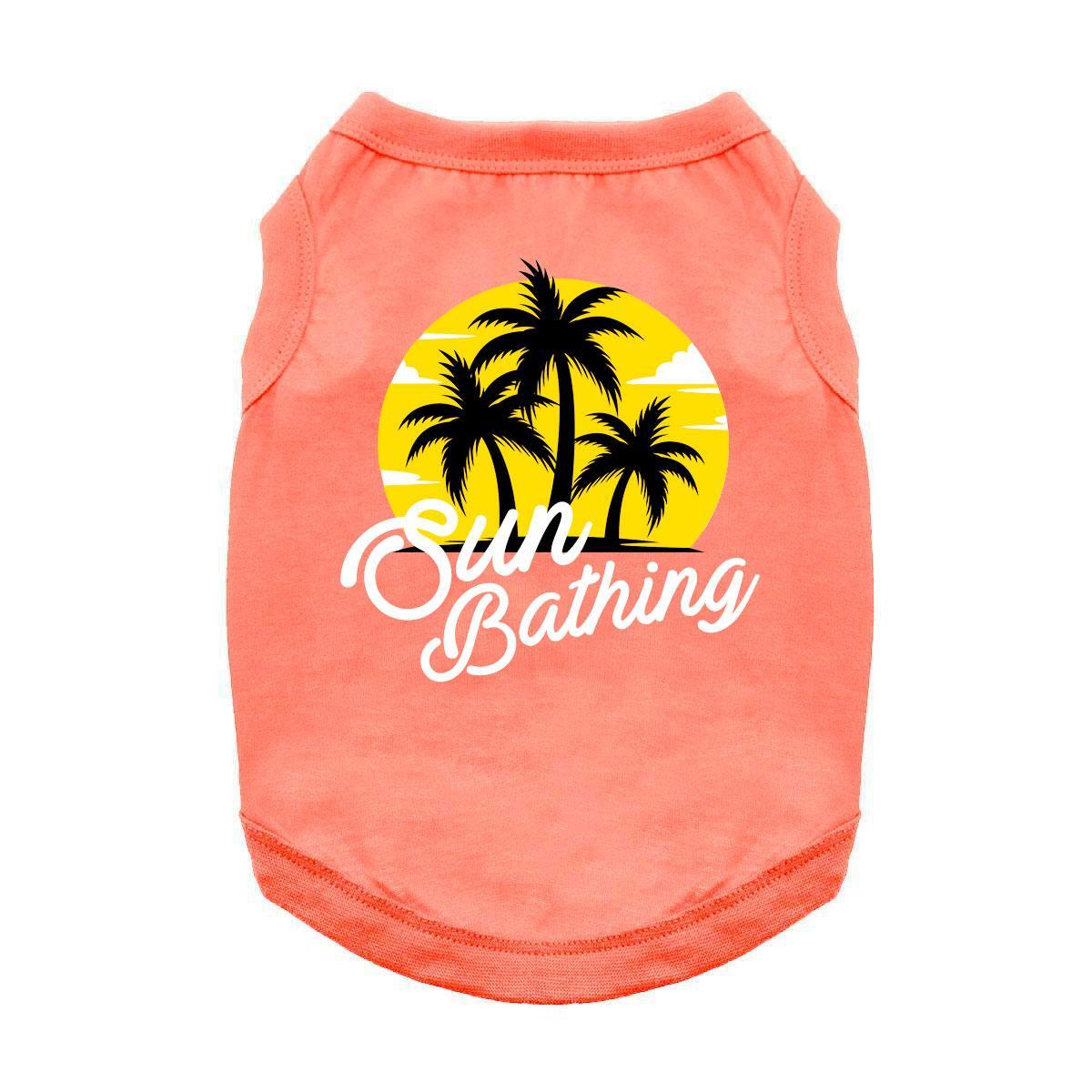 Sun Bathing Dog Shirt - Coral