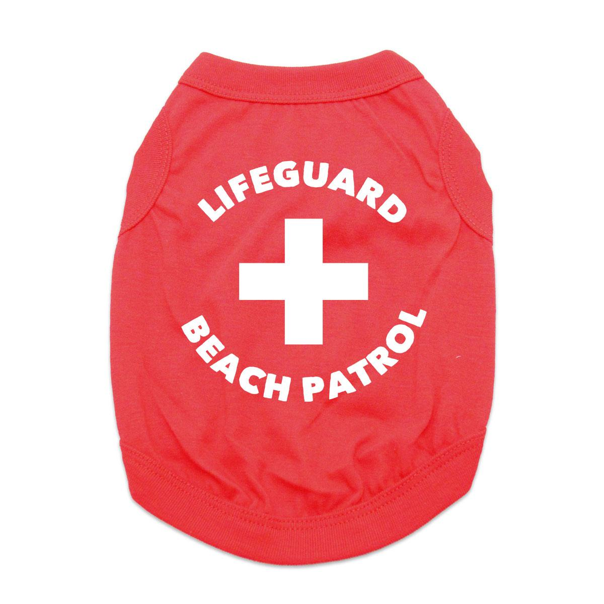 Lifeguard Beach Patrol Dog Shirt - Red