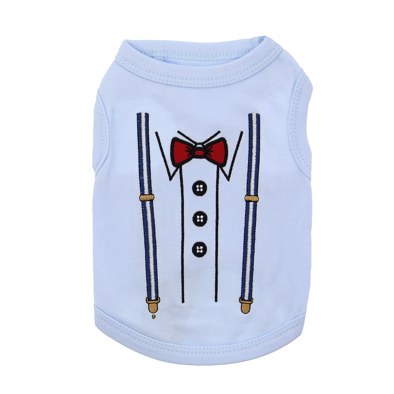 Suspenders Dog Tank by Parisian Pet - Baby Blue