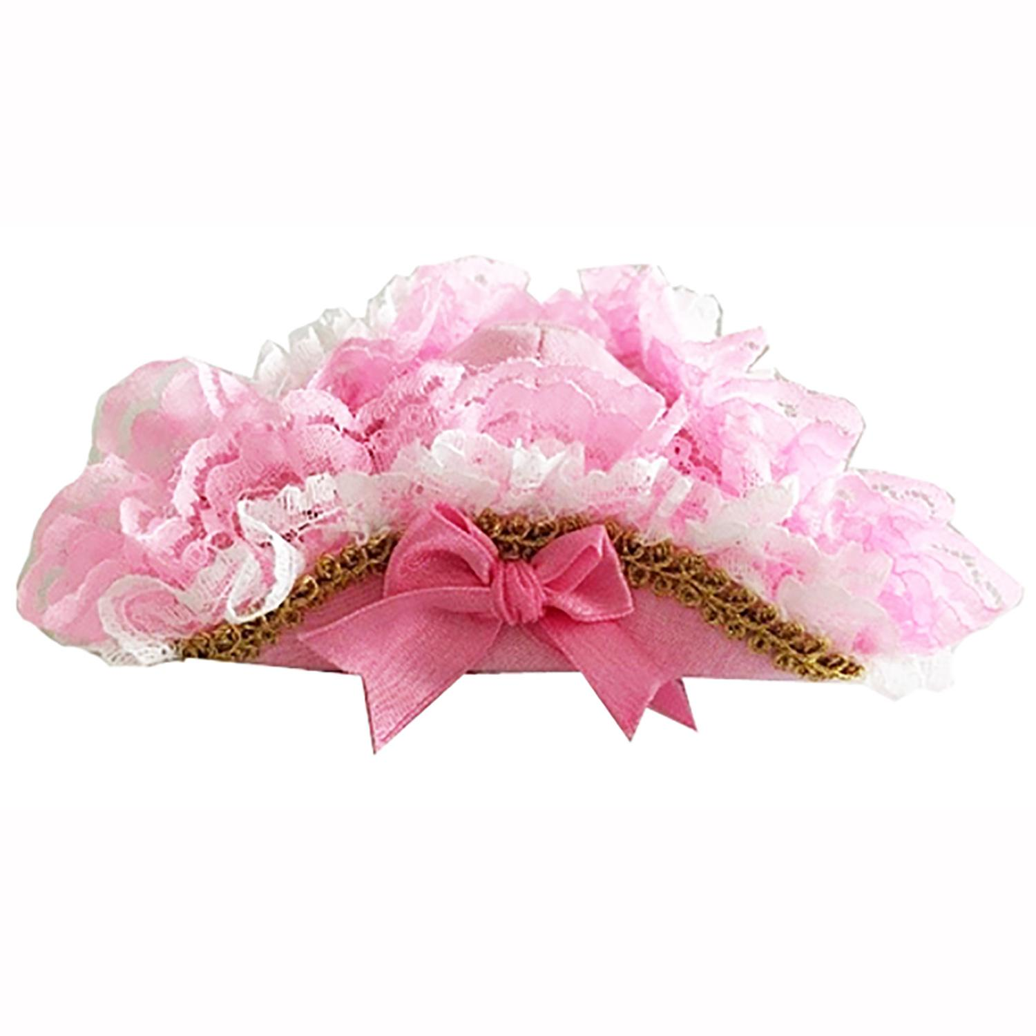 Victorian Lace Pirate Dog Hat - Pink