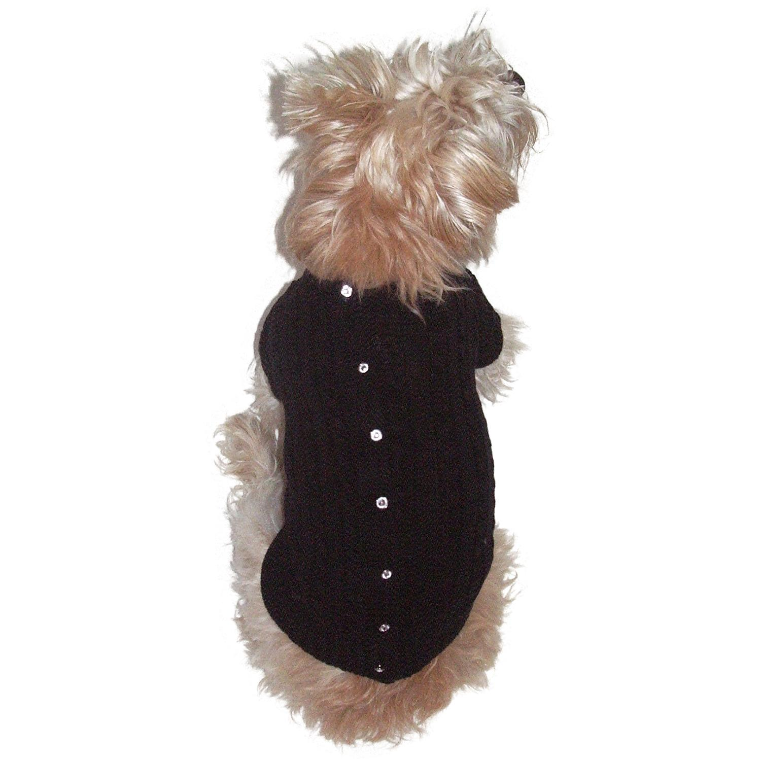 Cannes Cardigan Dog Sweater by The Dog Squad - Black