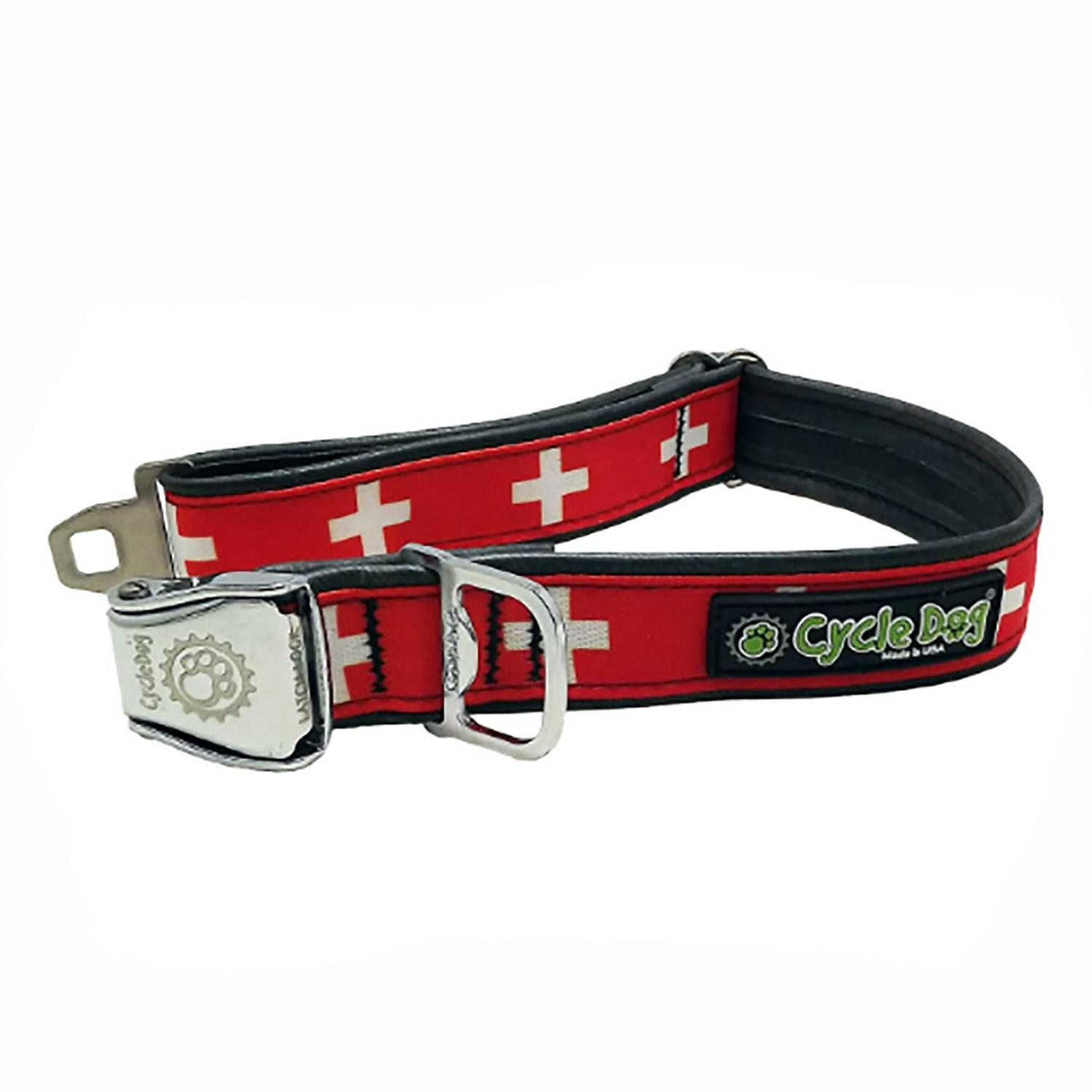 Swiss Metal Latch Dog Collar by Cycle Dog