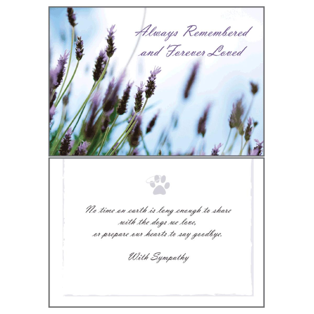 Sympathy Greeting Card by Dog Speak - Always Remembered