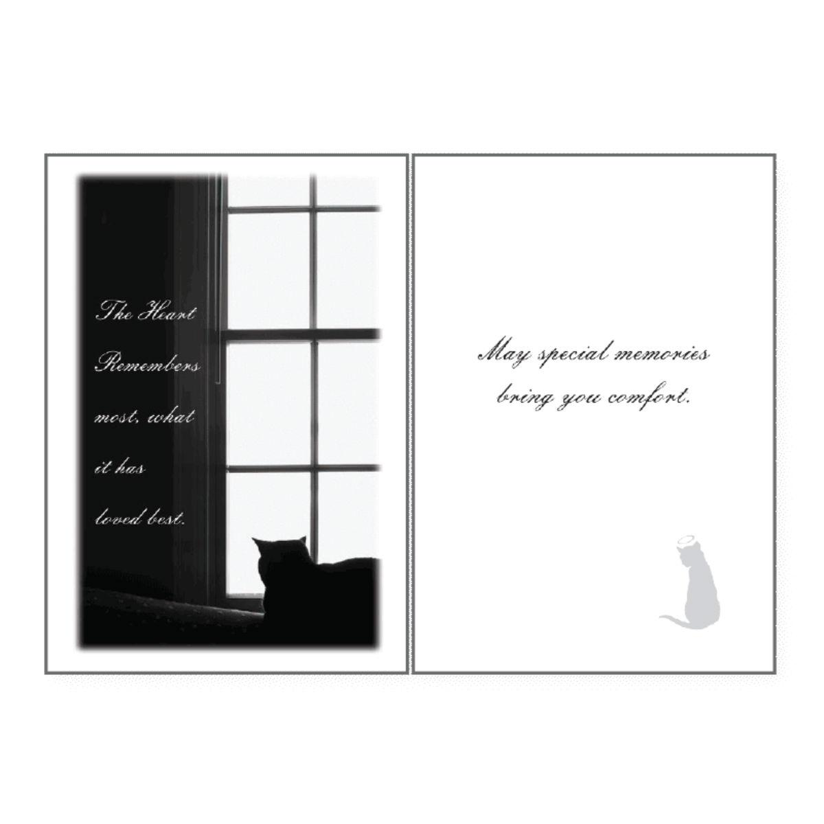 Sympathy Greeting Card by Dog Speak - The Heart Remembers