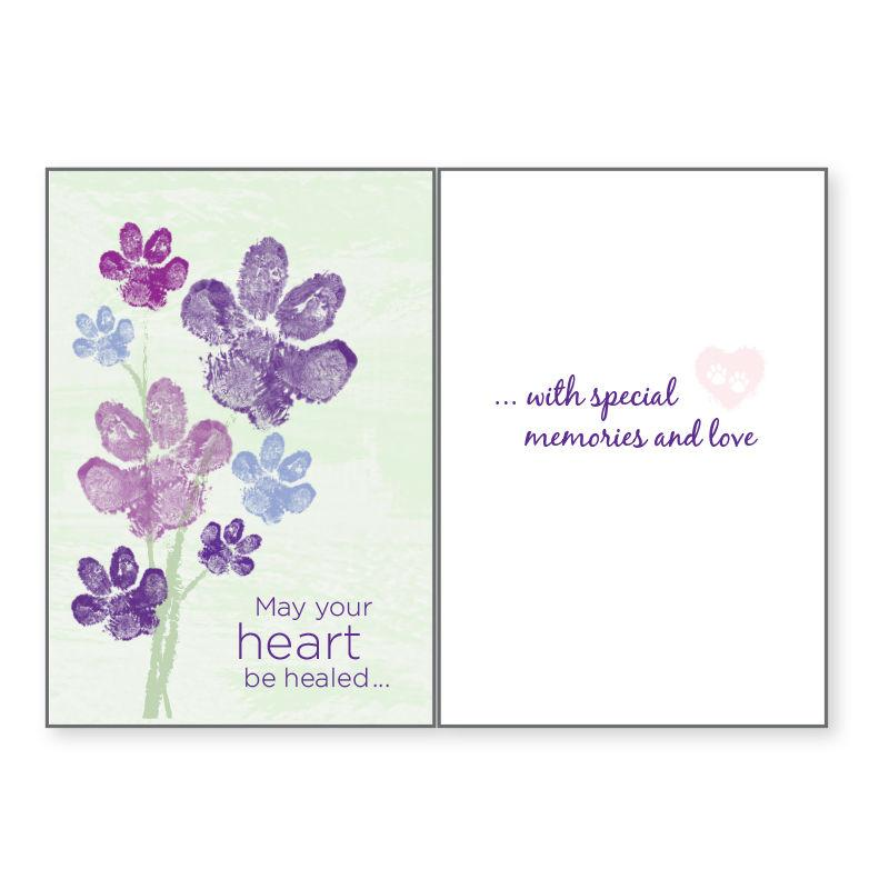 Sympathy Greeting Card by Dog Speak - May Your Heart Be Healed