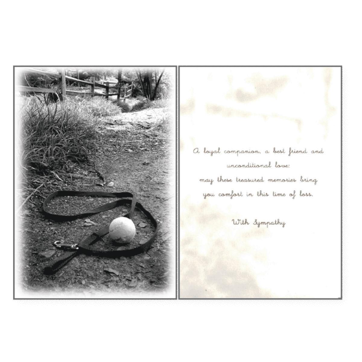 Sympathy Greeting Card by Dog Speak - Treasured Memories