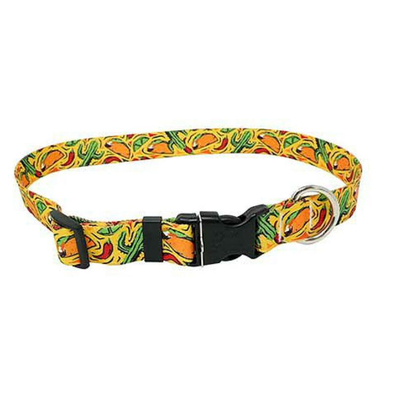 Taco Fiesta Dog Collar by Yellow Dog - Yellow