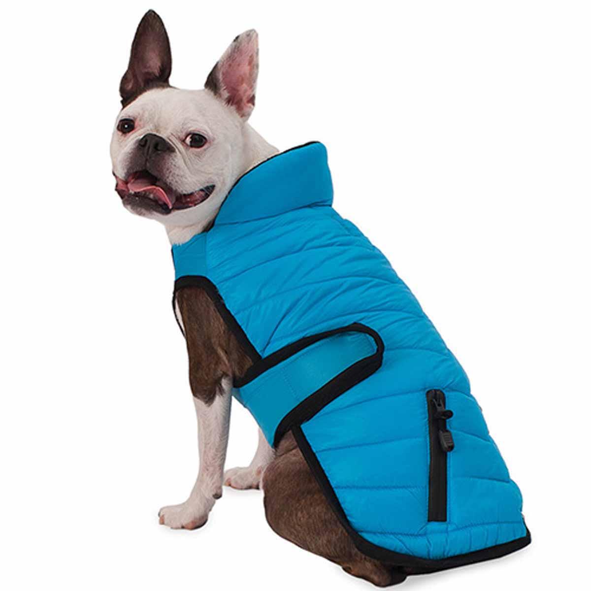 Tahoe Puffer Dog Coat - Aqua