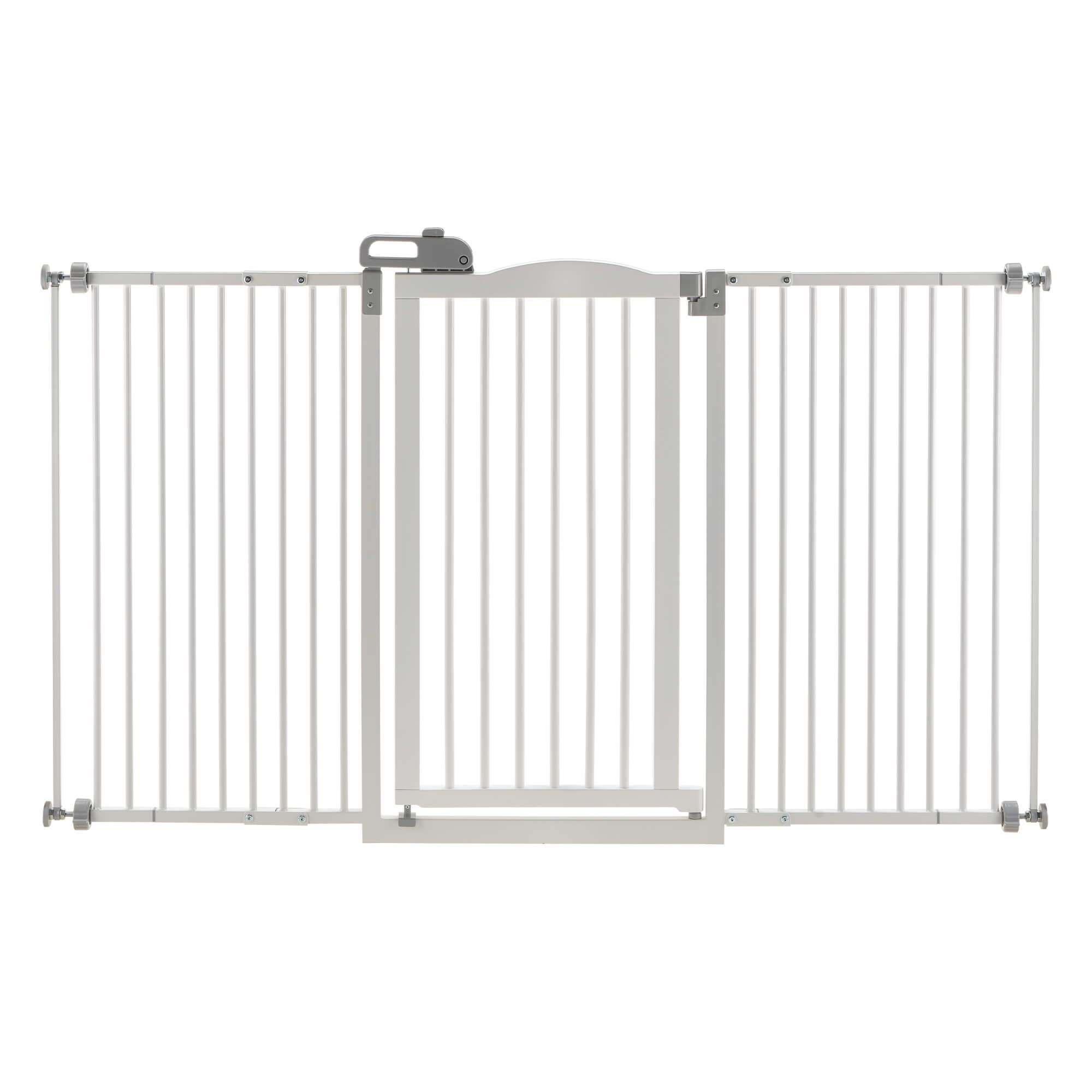 Tall One-Touch Dog Gate II Wide - Origami White