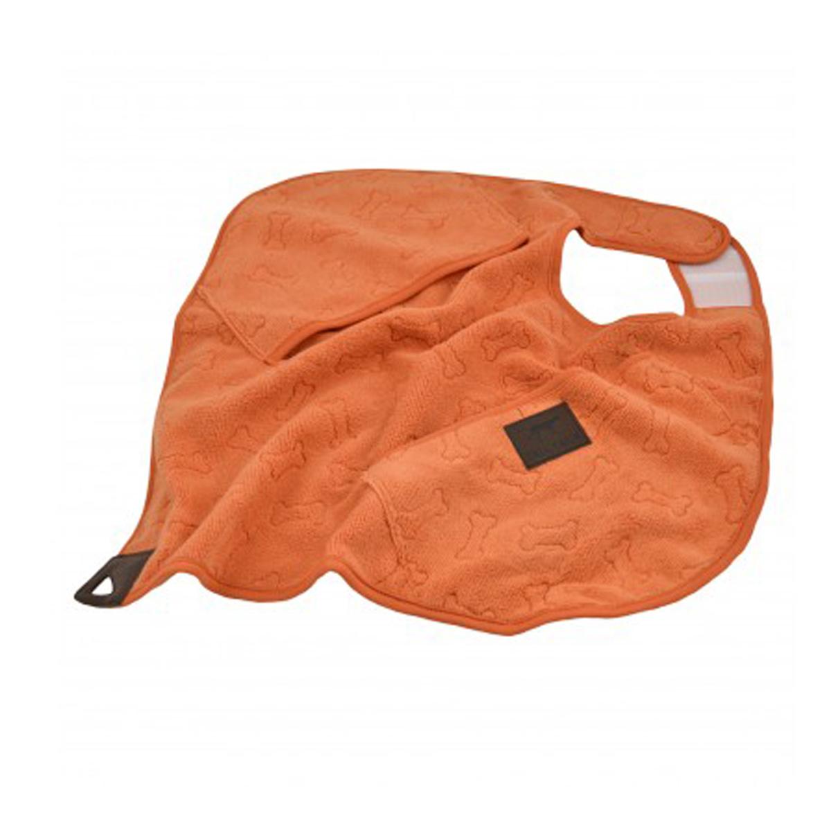 Tall Tails Cape Dog Towel Orange Bone With Same Day
