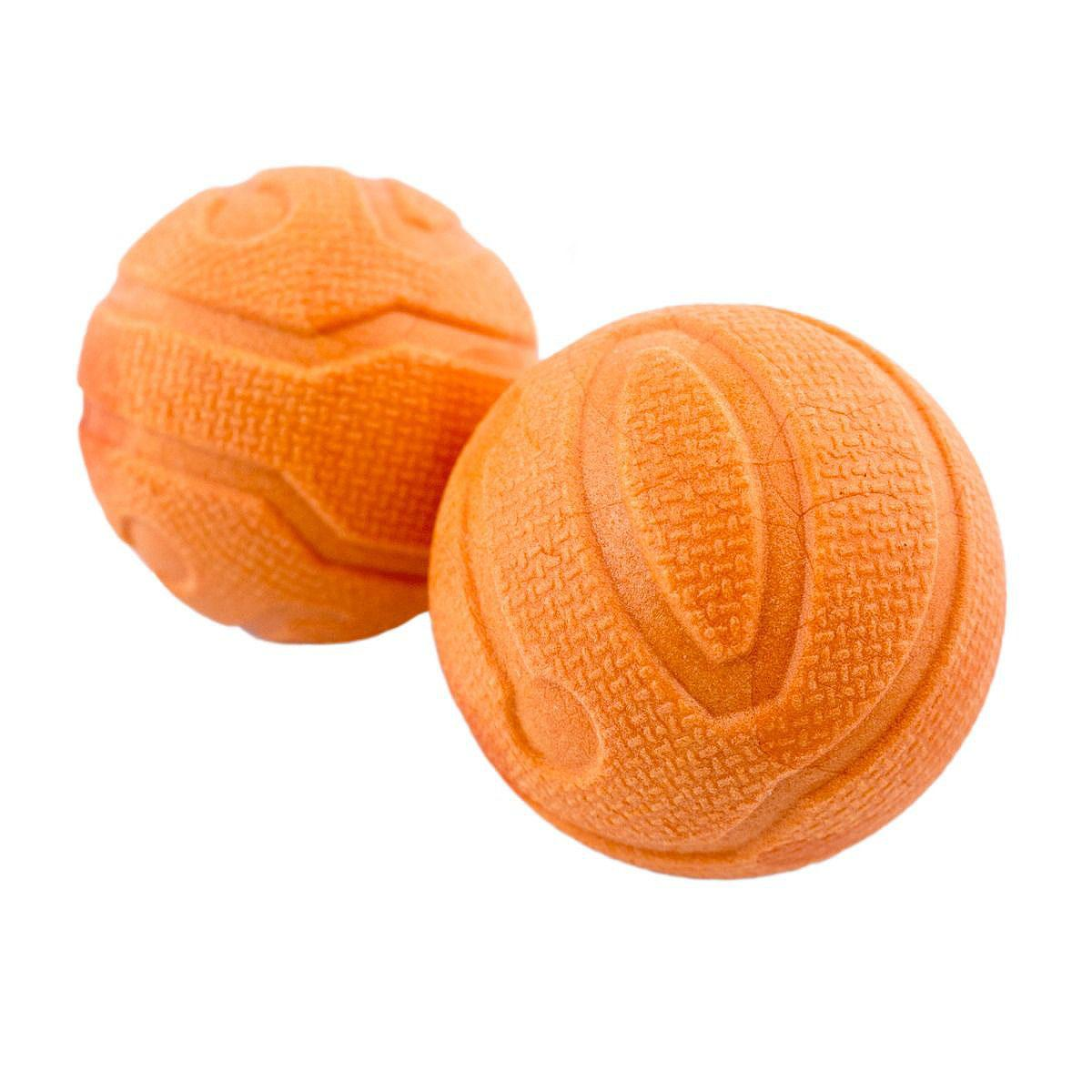 Tall Tails Fetch Balls Dog Toys - 2-Pack Orange