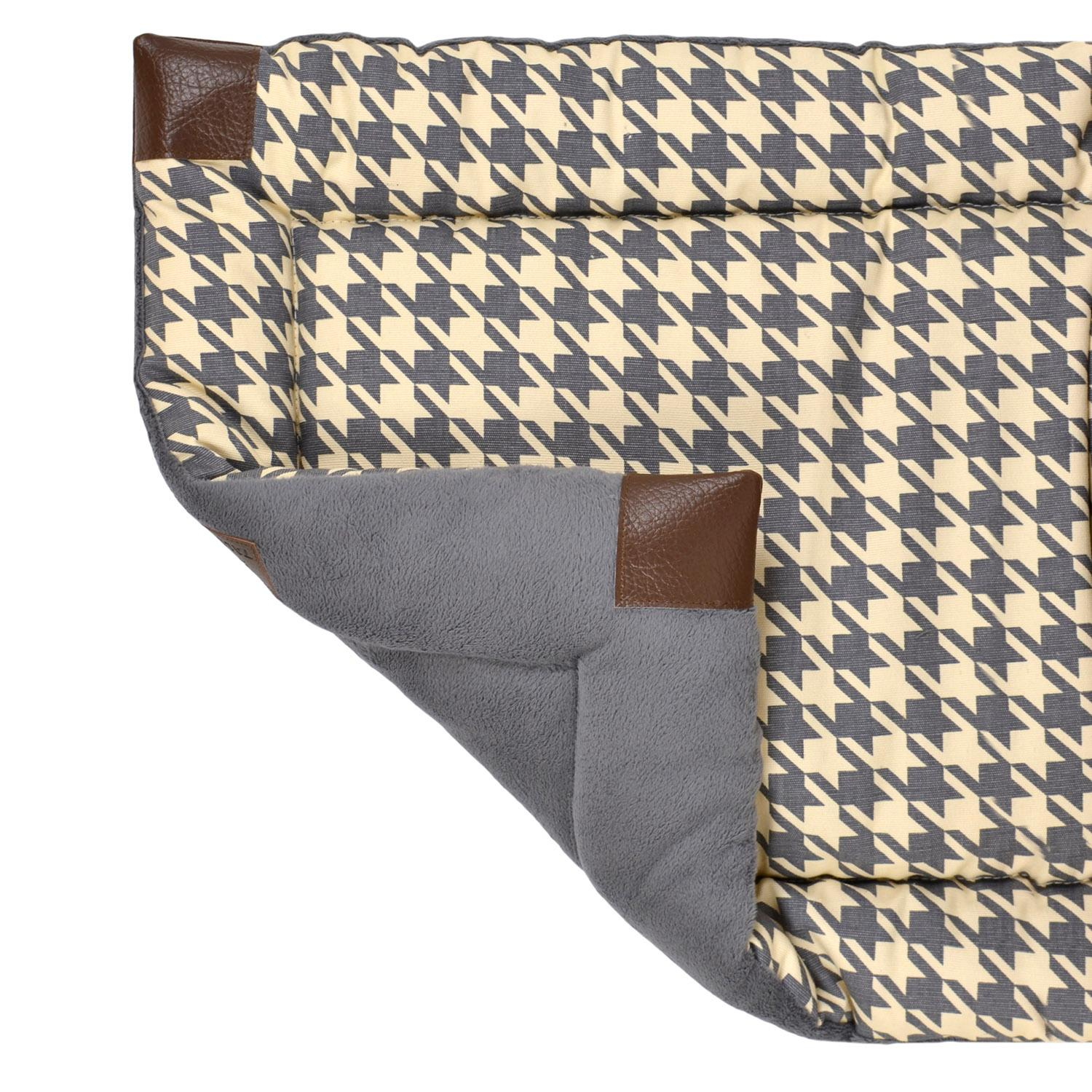 Tall Tails Fleece Blanket Top Dog Bed - Houndstooth