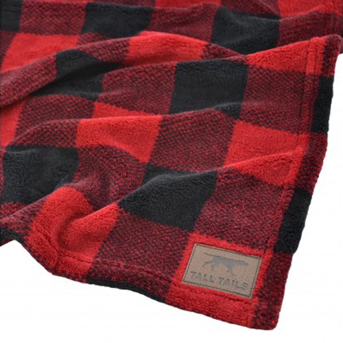 Tall Tails Fleece Dog Blanket - Hunters Plaid with Same ...