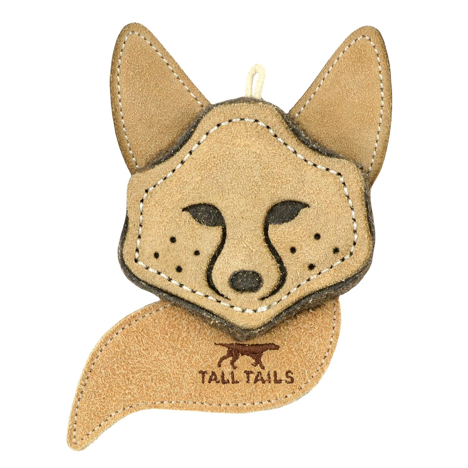 Tall Tails Natural Leather Dog Toy - Fox