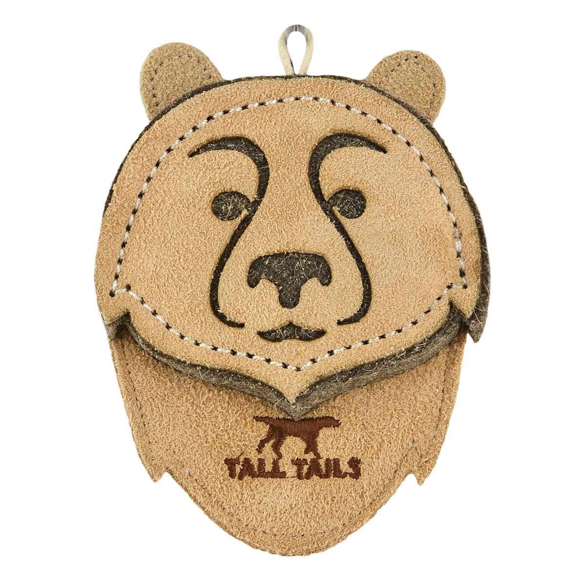 Tall Tails Natural Leather Dog Toy - Bear