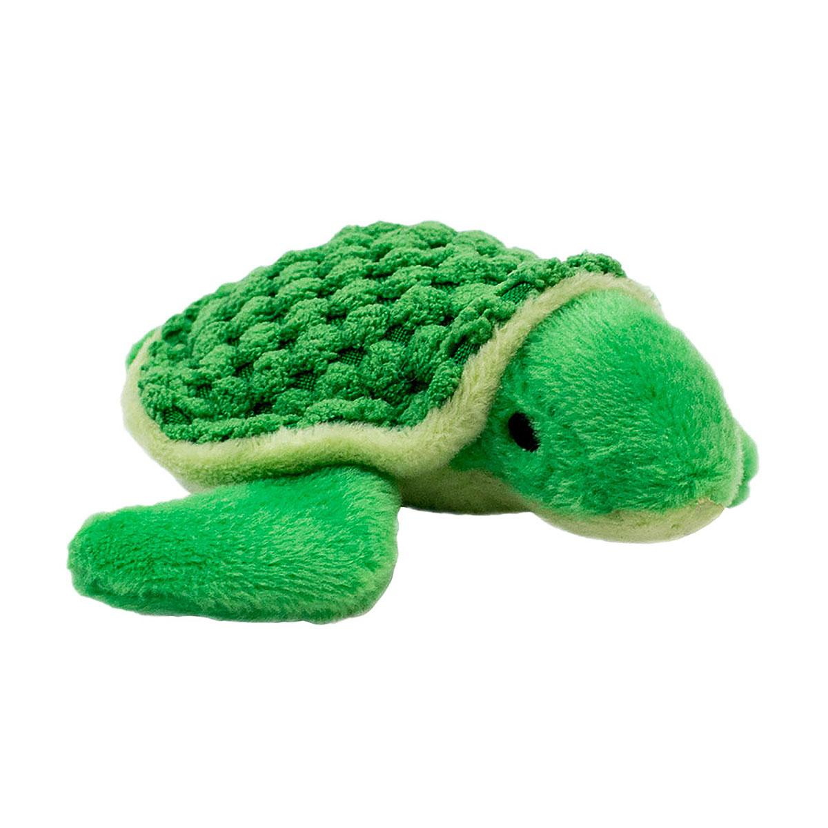Tall Tails Plush Baby Turtle Dog Toy with Squeaker