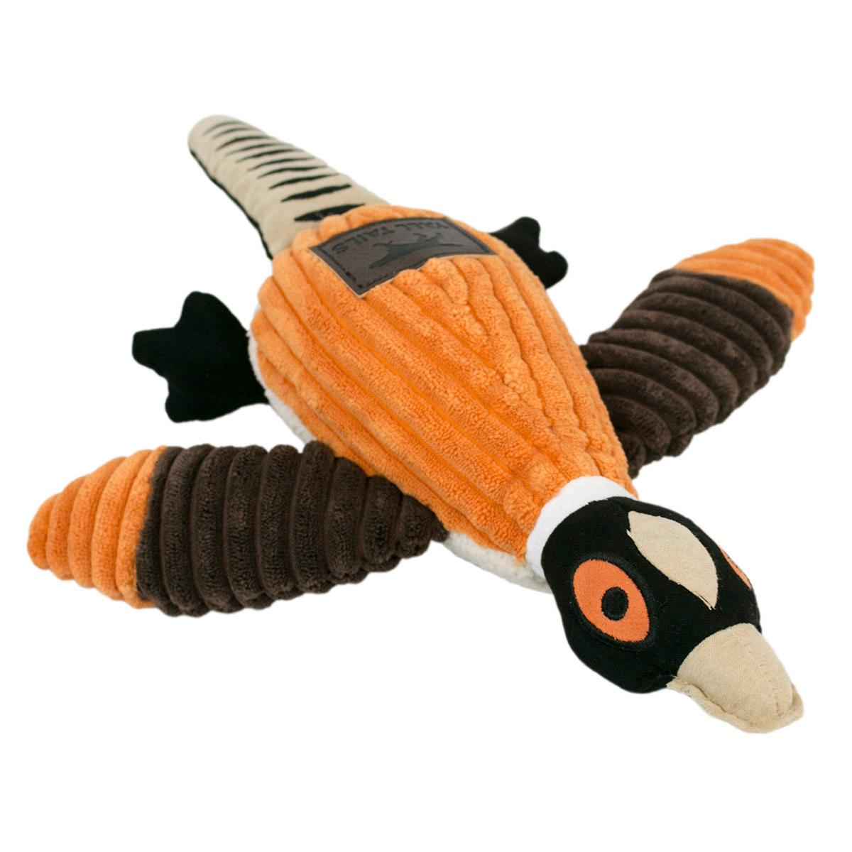 Tall Tails Plush Pheasant Dog Toy with Squeaker -16