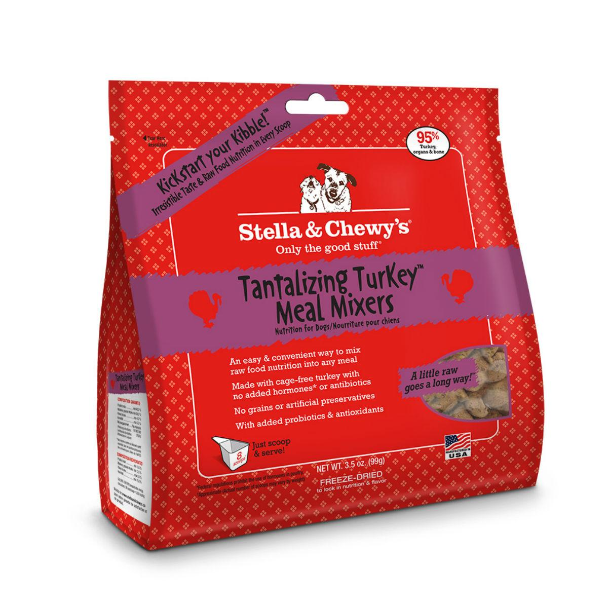 Stella & Chewy's Tantalizing Turkey Meal Mixers Dog Food Topper