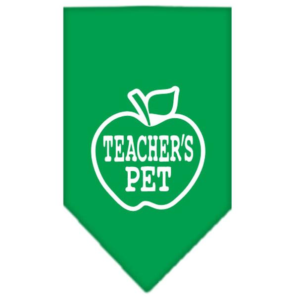 Teacher's Pet Dog Bandana - Emerald Green